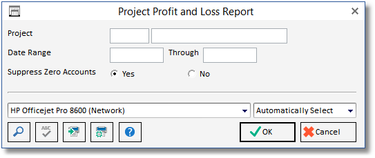 project profit and loss statement